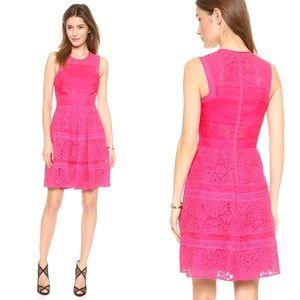 Rebecca Taylor Hot Pink Lace Dress